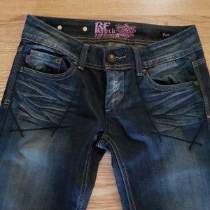 Express Dark Denim Bootcut Jeans Great condition !